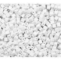 Прочие БС-239-1-13750 Бусы (пластик) р. 0,3x0,3 см белый 50 шт.