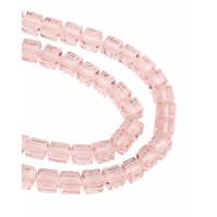 Прочие БСТ-38-8-18534.002 Бусины хрустальные квадратные р.1х1 см розовый +-80 шт.