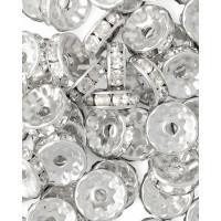 Прочие БУД-102-1-18026.001 Разделитель со стразами (рондель) д.1 см прозрачный