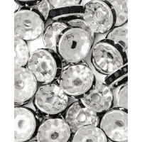 Прочие БУД-102-3-18026.003 Разделитель со стразами (рондель) д.1 см черный
