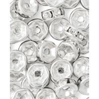 Прочие БУД-103-1-18027.001 Разделитель со стразами (рондель) д.0,6 см прозрачный