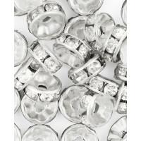 Прочие БУД-104-4-18025.004 Разделитель со стразами (рондель) д.0,8 см прозрачный