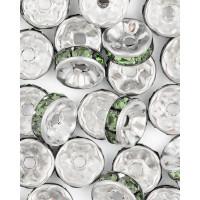 Прочие БУД-104-6-18025.006 Разделитель со стразами (рондель) д.0,8 см зеленый