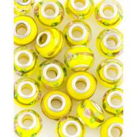 Прочие БУД-157-2-36056.002 Бусины-шармы р.1х1,3 см желтый