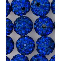 Прочие БУД-99-28-7484.015 Бусина со стразами д.1 см синий