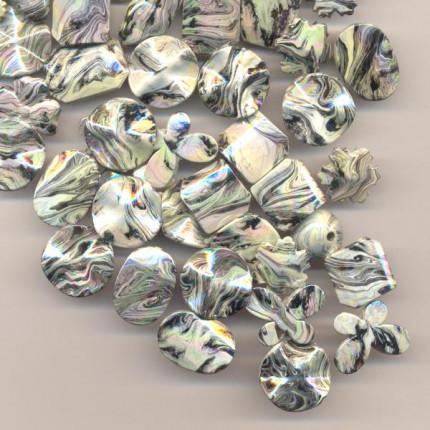Бусы пластик с голографическим эффектом 225 г/упак ±10%, ассорти 021 (арт. Бусы пластик с голографическим эффектом 225 г/упак ±10%, ассорти 021)