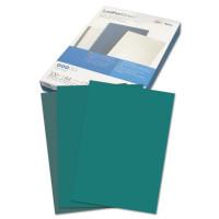 GBC CE040045 Обложки картонные для переплета А4, КОМПЛЕКТ 100 шт., тиснение под кожу, 250 г/м2, зеленые, GBC, CE040045