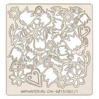 "Mr.Painter CHI-9 ""Mr.Painter"" CHI-9 Чипборд 9.5 х 10 см 1 шт. 151001 ""Мур-мур/1"""
