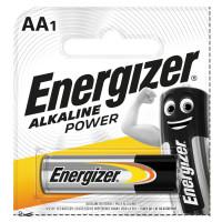 ENERGIZER E300140301 Батарейка ENERGIZER Alkaline Power, AA (LR06, 15А), алкалиновая, пальчиковая,1 шт., в блистере (отрывной блок), E300140301