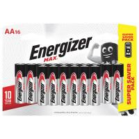 ENERGIZER E301533101 Батарейки КОМПЛЕКТ 16 шт., ENERGIZER Max, AA (LR06,15А), алкалиновые, пальчиковые, E301533101