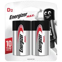 ENERGIZER E301533400 Батарейки ENERGIZER Max, D (LR20, 13А), алкалиновые, КОМПЛЕКТ 2 шт., в блистере, E301533400