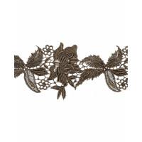 ЭКС-21-5-6770 Кружево декоративное ш.12 см коричневый 100 см