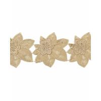 Прочие ЭКС-32-1-17699 Кружево декоративное ш.11 см золотистый 100 см