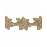 ЭКС-43-1-31728 Кружево декоративное ш.9,5 см золотистый 100 см