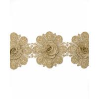 Прочие ЭКС-53-1-34073 Кружево декоративное ш.11,5 см золотистый 100 см