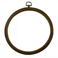 Прочие ЕВН08 Пяльцы-рамка пласт. под дерево, круг, 7703180, d=254 мм