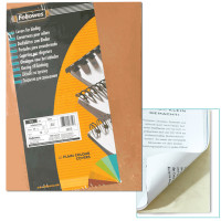 FELLOWES FS-53700 Обложки картонные для переплета А4, КОМПЛЕКТ 100 шт., тиснение под кожу, 250 г/м2, слоновая кость, FELLOWES, FS-53700