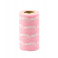 Прочие ФШ-21-1-32933.001 Фатин в шпульке ш.15 см розовый