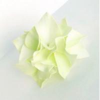 """Прочие Г-002 Ревелюровые цветы """"FomFantasy"""" Г-002, гортензия (4,5 * 3 см)  цв.св.зеленый"""