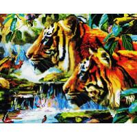Прочие GF1191 Алмазная мозаика 40х50 GF1191 Охота тигров