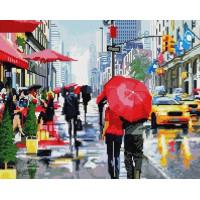 Прочие GF1381 Алмазная мозаика 40х50 GF1381 Дождь в городе