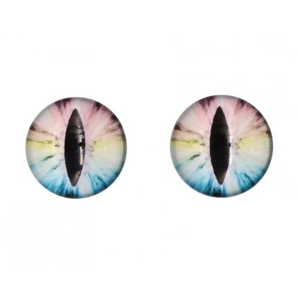 Глазки для игрушек, 16 мм., 10шт/упак., AR1062 (4-5 радужный) (арт. Глазки для игрушек)