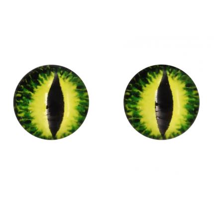 Глазки для игрушек, 16 мм., 10шт/упак., AR1062 (1-3 желто-зеленый) (арт. Глазки для игрушек)