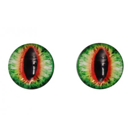 Глазки для игрушек, 16 мм., 10шт/упак., AR1062 (1-7 зелено- коричневый) (арт. Глазки для игрушек)
