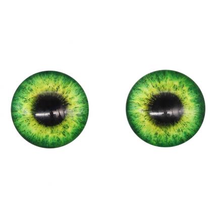 Глазки для игрушек, 16 мм., 10шт/упак., AR1062 (2-2 зеленый) (арт. Глазки для игрушек)