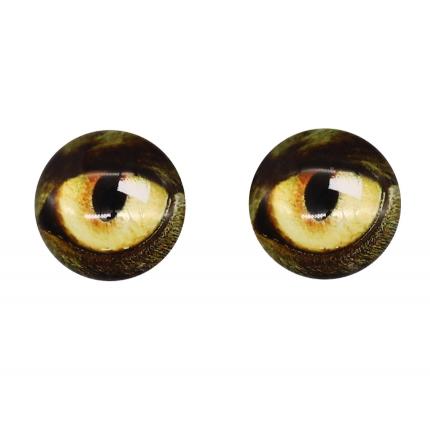 Глазки для игрушек, 16 мм., 10шт/упак., AR1062 (3-1 коричнево-желтый) (арт. Глазки для игрушек)