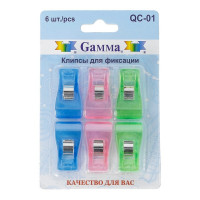 Gamma QC-01 Клипсы для фиксации QC-01 6 шт в блистере