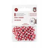KOH-I-NOOR КНП-61-1-31604 Кнопки KOH-I-HOOR №8 (д.21мм) красный