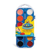 """CARIOCA KO040/A Краски акварельные CARIOCA """"Watercolor"""", 12 цветов, с кистью, пластиковая коробка, европодвес, KO040/A"""