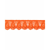 КП-195-9-18428.009 Кружево плетеное ш.2 см оранжевый 100 см