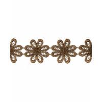 Прочие КП-215-1-30112.005 Кружево плетеное ш.2,5 см коричневый 100 см
