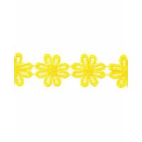 Прочие КП-215-10-30112.017 Кружево плетеное ш.2,5 см желтый 100 см