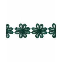 Прочие КП-215-11-30112.013 Кружево плетеное ш.2,5 см зеленый 100 см