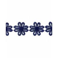 Прочие КП-215-12-30112.021 Кружево плетеное ш.2,5 см синий 100 см