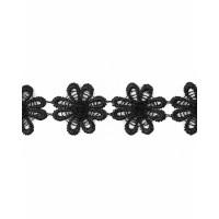 Прочие КП-215-13-30112.006 Кружево плетеное ш.2,5 см черный 100 см