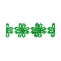 Прочие КП-215-16-30112.012 Кружево плетеное ш.2,5 см зеленый 100 см