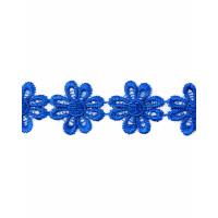 Прочие КП-215-17-30112.019 Кружево плетеное ш.2,5 см синий 100 см