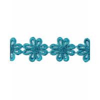 Прочие КП-215-18-30112.026 Кружево плетеное ш.2,5 см бирюзовый 100 см