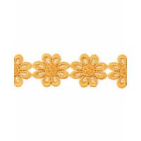 Прочие КП-215-19-30112.008 Кружево плетеное ш.2,5 см золотистый 100 см