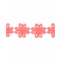 Прочие КП-215-2-30112.003 Кружево плетеное ш.2,5 см коралловый 100 см