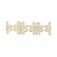 Прочие КП-215-21-30112.018 Кружево плетеное ш.2,5 см бежевый 100 см