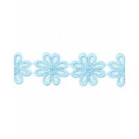 Прочие КП-215-22-30112.015 Кружево плетеное ш.2,5 см голубой 100 см
