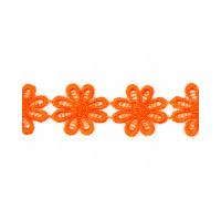 Прочие КП-215-24-30112.023 Кружево плетеное ш.2,5 см оранжевый 100 см