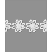 Прочие КП-215-25-30112.016 Кружево плетеное ш.2,5 см белый 100 см