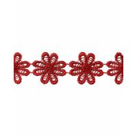Прочие КП-215-27-30112.022 Кружево плетеное ш.2,5 см бордовый 100 см