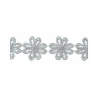 Прочие КП-215-28-30112.007 Кружево плетеное ш.2,5 см серый 100 см